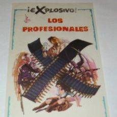 Cine: LOS PROFESIONALES - ORIGINAL 1967, SIN CINE, 28,5 X 14- DEPOSITO LEGAL SIN FECHA- LEER. Lote 173078502