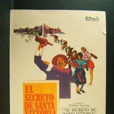 Cine: EL SECRETO DE SANTA VITTORIA-STANLEY KRAMER-ANTHONY QUINN-VIRNA LISI-ANNA MAGNANI-HARDY KRUGER-1970.. Lote 173221890