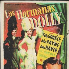 Cine: PROGRAMA DE CINE - LAS HERMANAS DOLLY - BETTY GRABLE, JOHN PAYNE - CINE DUQUE Y CAPITOL (MÁLAGA) - 1. Lote 173256223