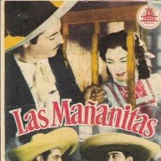Cine: PROGRAMA DE CINE - LAS MAÑANITAS - ESTHER FERNÁNDEZ, ANTONIO BADÚ - CINE GOYA (MÁLAGA) - 1948. . Lote 173264398