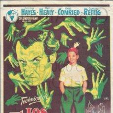 Cine: PROGRAMA DE CINE - LOS 5.000 DEDOS DEL DR. T - PETER LIND HAYES - GRAN ALBENIZ (MÁLAGA) - 1957.. Lote 186082975