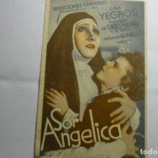 Cine: PROGRAMA DOBLE SOR ANGELICA- LINA YEGROS -PUBLICIDAD PRINCIPAL-OLOT. Lote 173505338