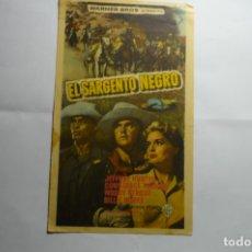 Cine: PROGRAMA EL SARGENTO NEGRO .- JEFREY HUNTER -PUBLICIDAD. Lote 173506339