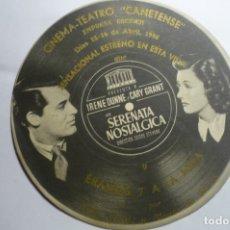 Cine: PROGRAMA TROQUELADO SERENATA NOSTALGICA.- CARY GRANT PUBLICIDAD . Lote 173506403