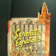 Cine: SERENATA ESPAÑOLA-JUAN DE ORDUÑA-ISAAC ALBENIZ-COMPLETO, TROQUELADO Y PIEZAS MOVILES-LA PERGOLA-40. Lote 173553162