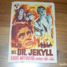 Cine: EL HIJO DEL DR. JEKYLL. Lote 173590704