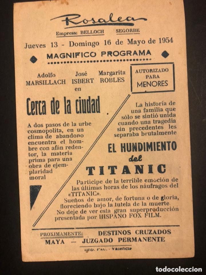 Cine: Programa el hundimiento del titanic.clifton webb barbara stanwyck.soligo.con publicidad - Foto 2 - 173667395