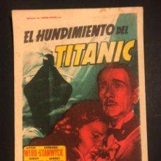 Cine: PROGRAMA EL HUNDIMIENTO DEL TITANIC.CLIFTON WEBB BARBARA STANWYCK.SOLIGO.CON PUBLICIDAD. Lote 173667395