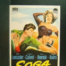 Cine: SOGA DE ARENA-WILLIAM DIETERTE-BURT LANCASTER-CORINNE CALVET-PAUL HENREID-CLAUDE RAINS-AÑOS 50. . Lote 173670434