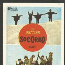 Flyers Publicitaires de films Anciens: LOS BEATLES-SOCORRO-THE BEATLES-HELP-PROGRAMA DE CINE-CINE VERDI-BARCELONA-VER FOTOS-(C-4322). Lote 173671140