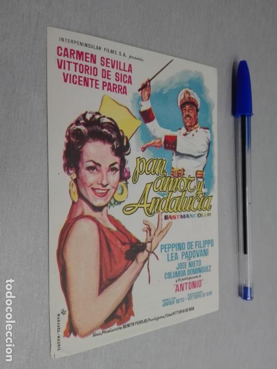 PAN, AMOR Y ANDALUCÍA / CARMEN SEVILLA / PUBLICIDAD CINE AVENIDA (Cine - Folletos de Mano - Musicales)