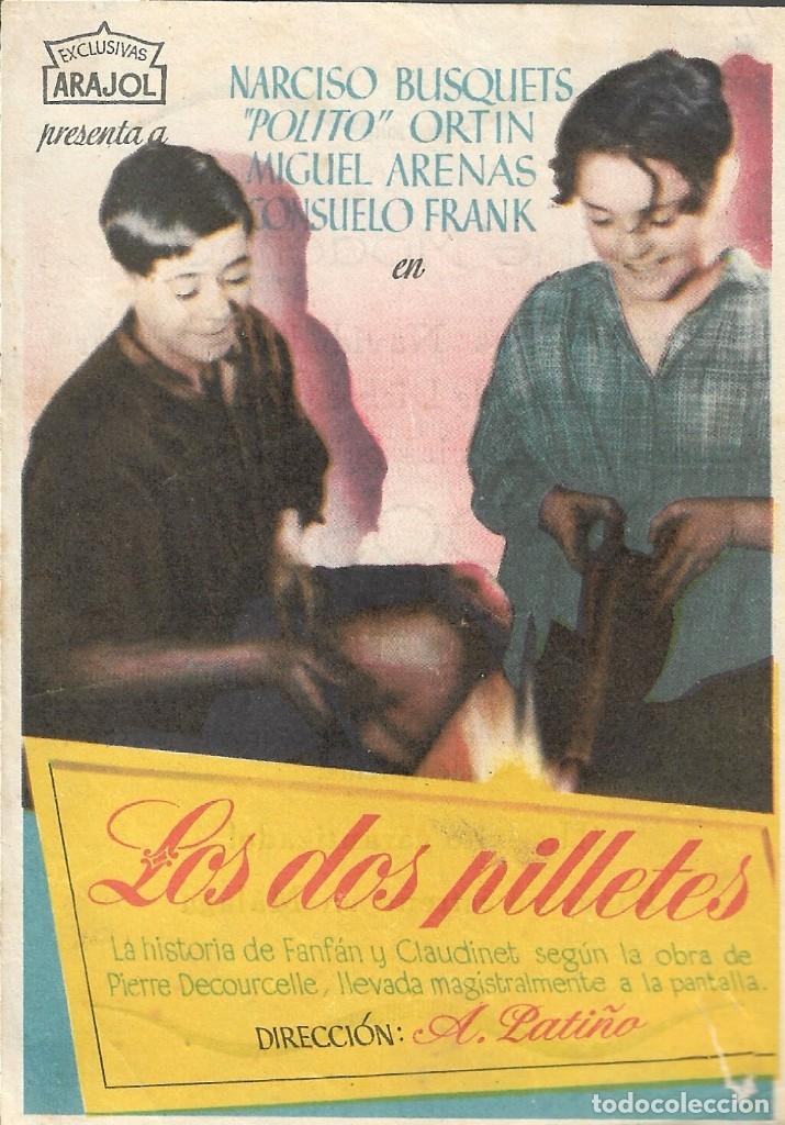 PROGRAMA DE CINE - LOS DOS PILLETES - NARCISO BUSQUETS, POLITO ORTIN - CINE MODERNO (MÁLAGA) - 1938. (Cine - Folletos de Mano - Comedia)