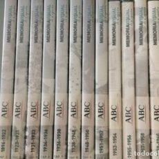 Foglietti di film di film antichi di cinema: DVD MEMORIA VISUAL DE ESPAÑA- 12 CAPÍTULOS EDITORIAL ABC . Lote 173841269