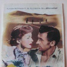 Cine: PROGRAMA DE MANO LAS MINAS DEL REY SALOMON CON DEBORAH KERR Y STEWART GRANGER. Lote 173922517