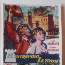 Cine: PROGRAMA DE MANO EL INTREPIDO LA TOUR CON JEAN MARAIS. Lote 173923052