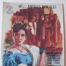 Cine: PROGRAMA DE MANO LA CANCION DE LA MALIBRAN CON Mª ANGELES MORALES. Lote 173923333
