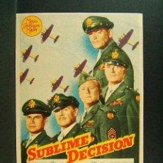 Cine: SUBLIME DECISION-SAM WOOD-CLARK GABLE-WALTER PIDGEON-VAN JOHNSON-BRIAN DONLEVY-AÑOS 40. . Lote 173948795