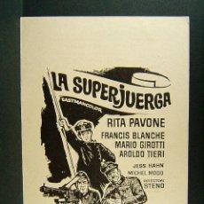 Cine: LA SUPERJUERGA-STENO-RITA PAVONE-FRANCIS BLANCHE-ILUSTRA MCP-CINE FOMENTO-LA BISBAL D'EMPORDA-1972. . Lote 173955303