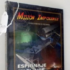 Cine: MISION IMPOSIBLE * LIBRO DVD * ESPIONAJE EN EL AIRE * BBC * LIBRO TAPAS DURAS + DVD PRECINTADO!!. Lote 173965422