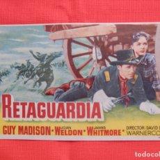 Cine: RETAGUARDIA, IMPECABLE SENCILLO, GUY MADISON, CON PUBLI MONTERROSA 1956. Lote 174031030