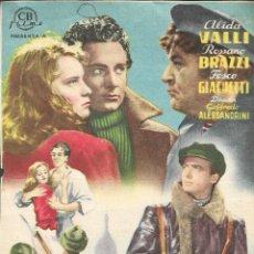 Cine: PROGRAMA DE CINE - LOS QUE VIVIMOS Y ADIOS KIRA! - ALIDA VALLI, ROSSANO BRAZZI - CINE ECHEGARAY 1950. Lote 174032964