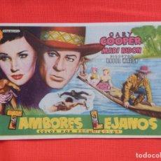 Cine: TAMBORES LEJANOS, SENCILLO, GARY COOPER, CON PUBLI MONTERROSA. Lote 174033253