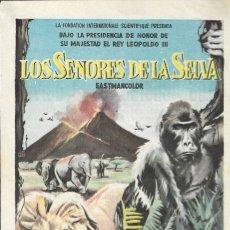 Cine: PROGRAMA DE CINE - LOS SEÑORES DE LA SELVA- 20TH CENTURY FOX - COLISEO NACIONAL (MELILLA) - 1958.. Lote 174035454