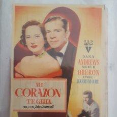 Cine: FOLLETO DE MANO / MI CORAZON TE GUIA / CINE TIVOLI. Lote 174037474