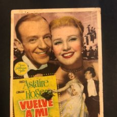 Cine: PROGRAMA VUELVE A MI.FRED ASTAIRE GINGER ROGERS.CON PUBLICIDAD. Lote 174083824