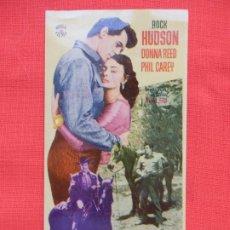 Cine: FIEBRE DE VENGANZA, SENCILLO EXCTE. ESTADO, ROCK HUDSON, CON PUBLI . Lote 174091389