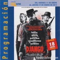 Cine: DJANGO DESENCADENADO (CON PUBLICIDAD). Lote 174102470
