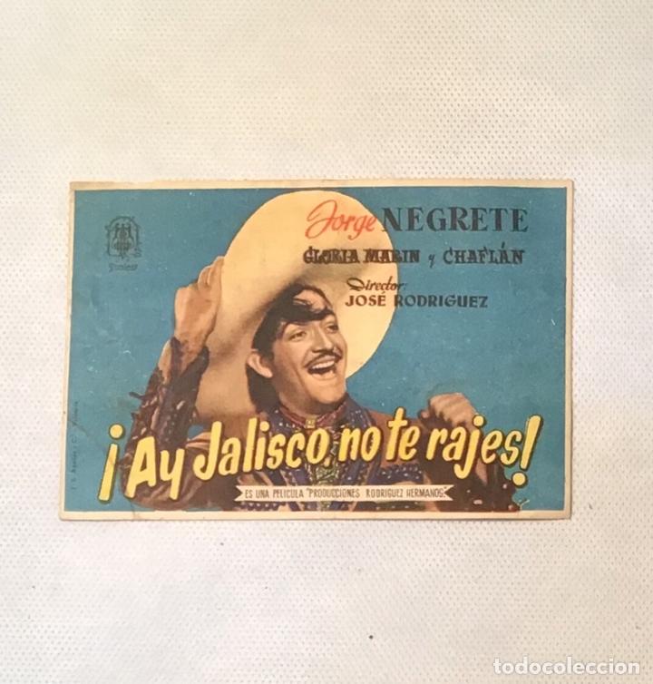 ¡ AY JALISCO NO TE RAJES ! FOLLETO ANTIGUO DE CINE (Cine - Folletos de Mano - Musicales)