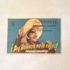 Cine: ¡ AY JALISCO NO TE RAJES ! FOLLETO ANTIGUO DE CINE. Lote 174149058
