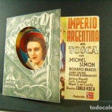 Cine: TOSCA-CARLO KOCH-IMPERIO ARGENTINA-MICHEL SIMON-ROSSANO BRAZZI-CINE TEATRO ALBENIZ-GERONA-AÑOS 40. . Lote 174158597