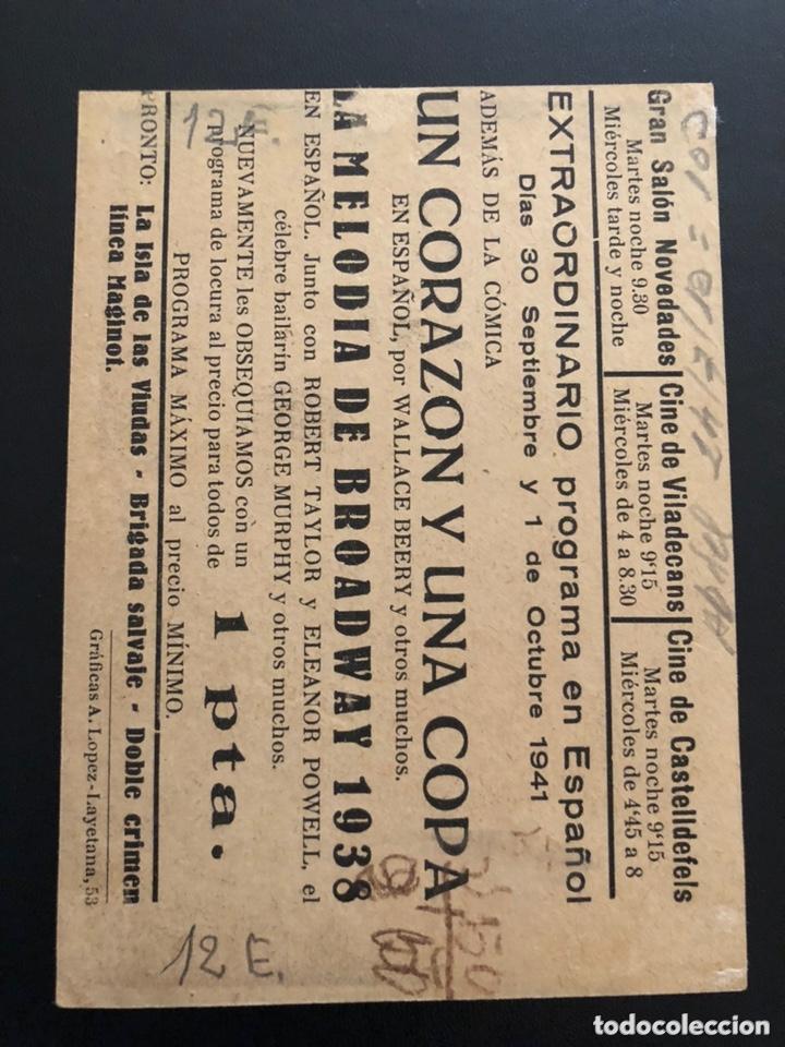 Cine: Programa la melodía de broadway eleanor powell robert taylor.con publicidad - Foto 2 - 174158994