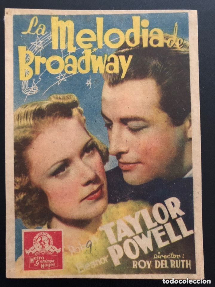 PROGRAMA LA MELODÍA DE BROADWAY ELEANOR POWELL ROBERT TAYLOR.CON PUBLICIDAD (Cine - Folletos de Mano - Musicales)