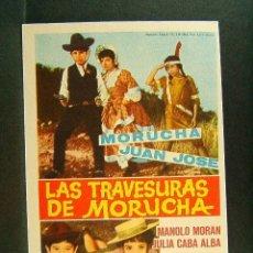 Cine: LAS TRAVESURAS DE MORUCHA-IGNACIO F. IQUINO-JULIA CABA ALBA-MORAN-CINE SALA EDISON-FIGUERAS-1962. . Lote 174222998