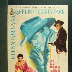 Cine: EL TREN DE LAS 3 : 10-DELMER DAVES-GLENN FORD-VAN HEFLIN-CINEMA VICTORIA-SAN FELIU DE GUIXOLS-1959. . Lote 174224460
