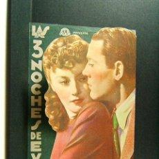 Cine: LAS 3 NOCHES DE EVA-PRESTON STURGES-BARBARA STANWYCK-HENRY FONDA-CINE MODERNO-GERONA-1944. . Lote 174243962