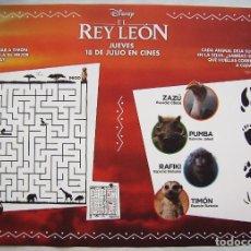 Cine: EL REY LEÓN. 30 X 42 CMS... Lote 184052331