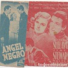 Folhetos de mão de filmes antigos de cinema: PROGRAMA DE CINE DOBLE: EL ANGEL NEGRO PC-4419. Lote 174285149