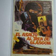 Cine: PROGE¡RAMA EL ASALTO AL TREN DE GLASGOW. Lote 174293642