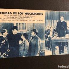 Cine: FICHA PROGRAMA 219 LA CIUDAD DE LOS MUCHACHOS.SPENCER TRACY MICKEY ROONEY. Lote 174309279