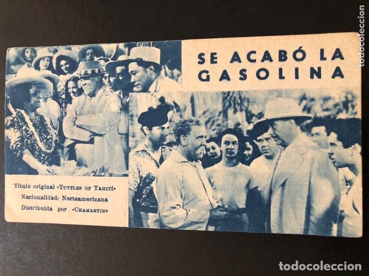 FICHA PROGRAMA 97 SE ACABO LA GASOLINA CHARLES LAUGHTON (Cine - Folletos de Mano - Drama)