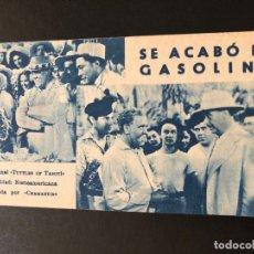 Cine: FICHA PROGRAMA 97 SE ACABO LA GASOLINA CHARLES LAUGHTON. Lote 174309350