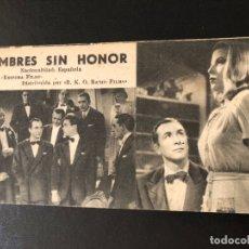 Cine: FICHA PROGRAMA 152 HOMBRES SIN HONOR.ADRIANO RIMOLDI MERY MARTIN. Lote 174309440