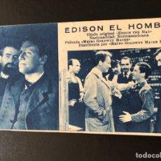 Cine: FICHA PROGRAMA 64 EDISON EL HOMBRE.SPENCER TRACY. Lote 174309497