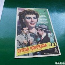 Cine: PROGRAMA DE CINE SIMPLE. SENDA IGNORADA. CINE LICEO DE MÉRIDA.1949. Lote 174309570