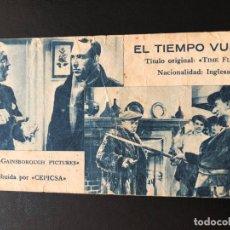 Cine: FICHA PROGRAMA 49 EL TIEMPO VUELA.TOMMY HANDLEY. Lote 174309572