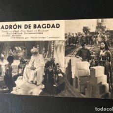 Cine: FICHA PROGRAMA 263 EL LADRON DE BAGDAD.CONRAD VEIDT SABU. Lote 174309698